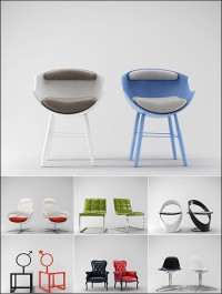 3D Models Chair Collection from 3D66