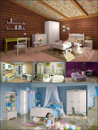 Full Furniture Set Classic Childroom