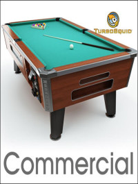 TurboSquid Pool table 8ft Commercial