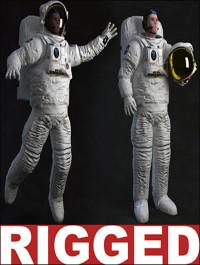 TurboSquid Astronaut Rigged