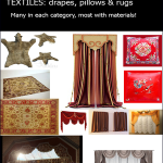 Decor Set 3 Textiles drapes pillows & rugs