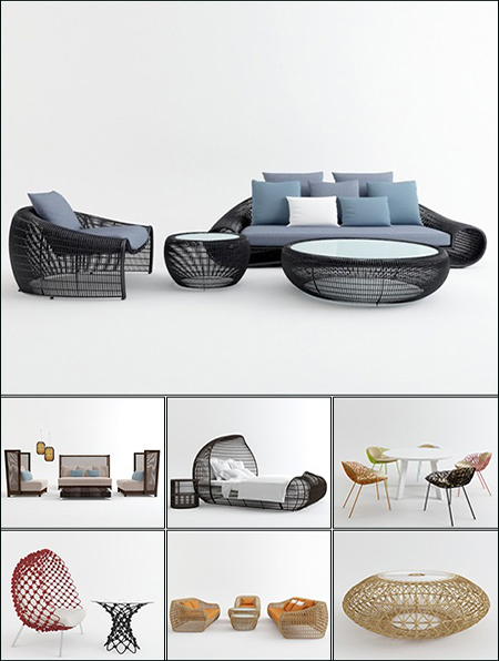 3d models outdoor furniture collection from 3d66 for Outdoor furniture 3d model