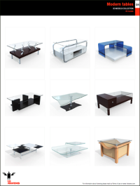 10ravens 3D Models collection 004 Modern tables 01