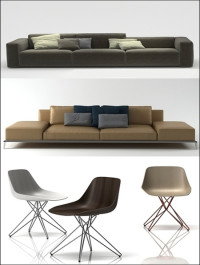 Design Connected Poliform Sofa and Chair