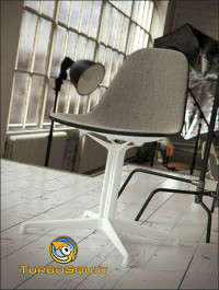 TurboSquid Eames Plastic Side Chair by BBB3viz