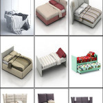 3D Models of Beds From Flou