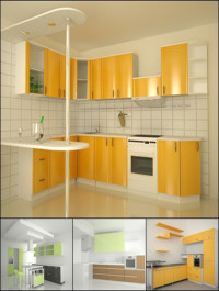 Modern Kitchen 3D Models