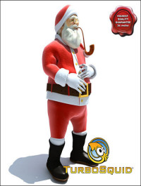 TurboSquid Santa Claus Pose1
