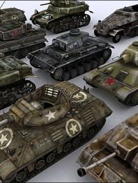 WW2 Tanks 3D models