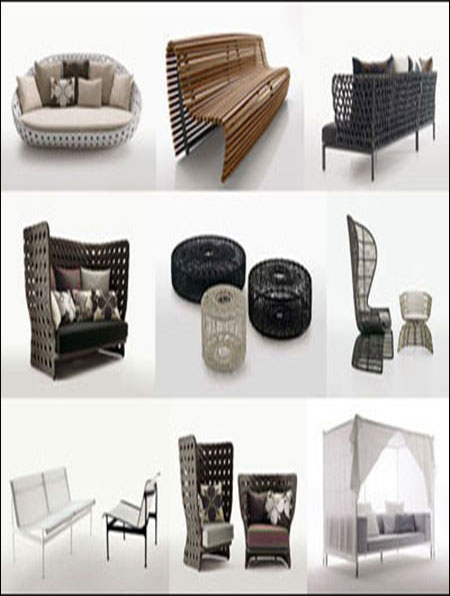 b b italia 3d model of outdoor furniture. Black Bedroom Furniture Sets. Home Design Ideas