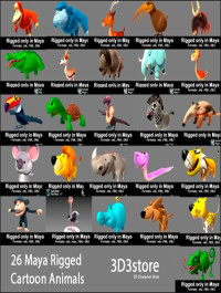 3D3Store 26 Animals Collection All Rigged