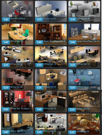 Humster3d 27 Office Sets and Office Furniture 3D Models