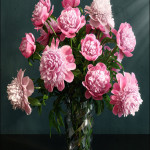 Best of the Week 3D Model Pink Peonies varieties Barbara