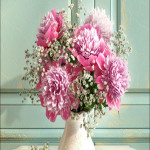 Bouquet of Peonies with Verdure