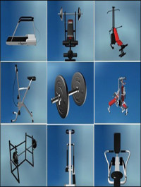 Gym Equipment 3d Models