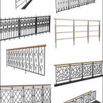 Iron Railings 3D models