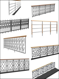 Iron Railings 3D models