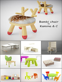 Modern Table and Chair Childroom