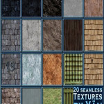 Seamless Textures Wood Stone Stucco