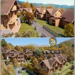 TurboSquid Log House Chamonix