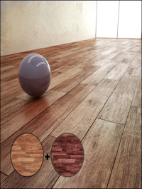 Parquet Material With 2 Texture