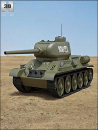 3D model of T-34-85