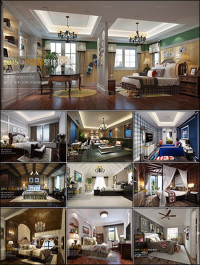 American Bedroom Style 3D66 Interior 2015 Vol 1
