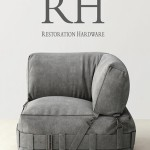 RH CARGO LOUNGE CORNER CHAIR