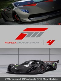 Forza Motorsport 4 Complete Collection Car & Drive Out 3DMax Models
