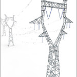 Modular Powerlines 3D Model