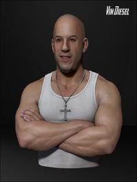 Vin Diesel 3D Model