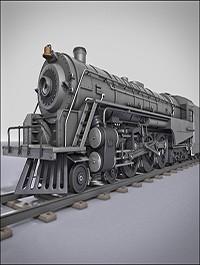 Turbosquid Berkshire Steam Train Locomotive Rigged