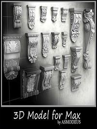 3ds Max Models Mouldings