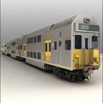 TurboSquid EMU City Rail K Set Passenger Train