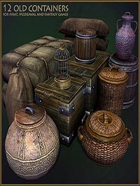 TurboSquid Medieval Container Set