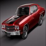 Chevrolet Chevelle SS 1970 3D Model