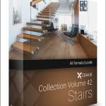 CGAxis Models Volume 42 Stairs + Render Scene
