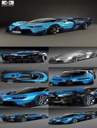 Hum3D Bugatti Vision Gran Turismo 2015 3D model