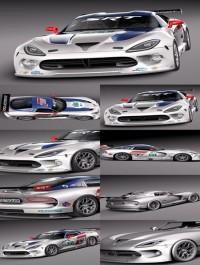 3d Model Dodge Viper GTS-R 2013 Race car