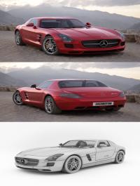 3d Model Mercedes SLS AMG