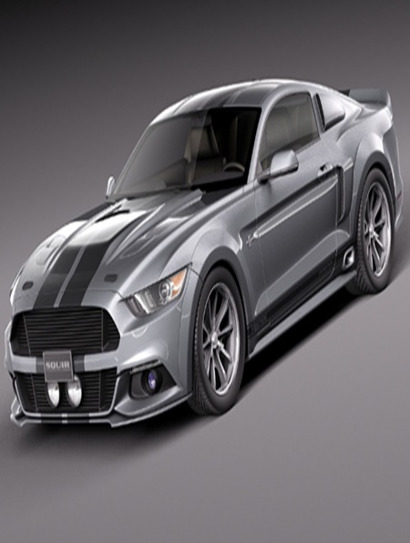 3d Model Ford Mustang Gt500 Eleanor 2015