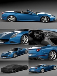 3D Model Ferrari California T 2015