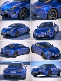 Renault Alpine A110 2018 3D Model