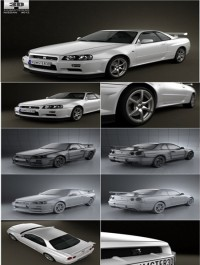 HumSter3D Nissan Skyline R34 GT-R coupe 1999 3D model