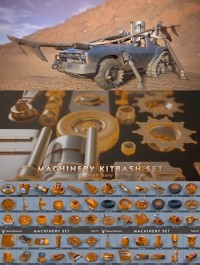 Machinery Set kitbash High Poly Pack