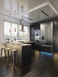 Aleso3D Model Black Wood Kitchen Final