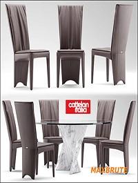Table and Chair 9 Maxbrute Cattelan Italia AURELIA