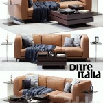 DITRE ITALIA St. Germain Leather Sofa