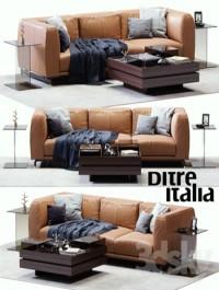 DITRE ITALIA St. Germain Leather Sofa