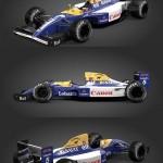 F1 Williams FW14 (Mansell, Patrese & Bonus Senna/FW16 texture) – Rigged